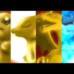 Charmander evoluindo no estilo Digimon