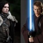 E se Jon Snow fosse um Jedi? (Só assista se você já assistiu ao e09s04 de GoT)