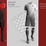 Como seriam os uniformes se houvesse uma Copa do Mundo em Game Of Thrones