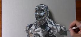 Impressionante a forma como esse cara desenha o Homem de Ferro