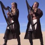 """Sensacional esse medley de Star Wars interpretado pelas """"Gêmeas da Harpa"""""""