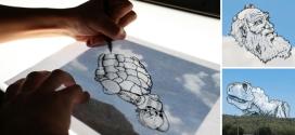 Artista tira fotos de nuvens e desenha o que vê em cima delas